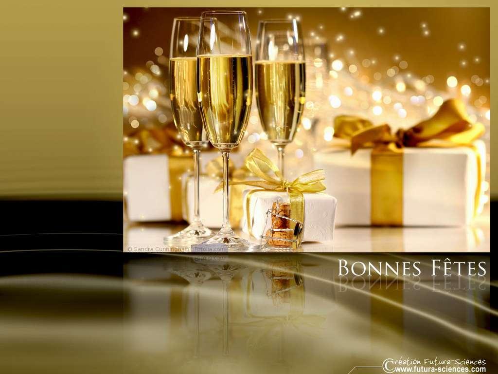 Champagne pour la nouvelle année