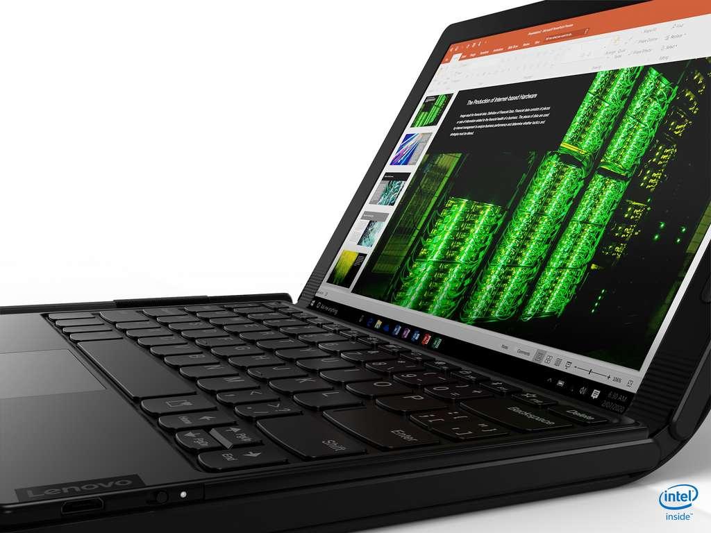 Lenovo propose en option un clavier sans fil magnétique. © Lenovo