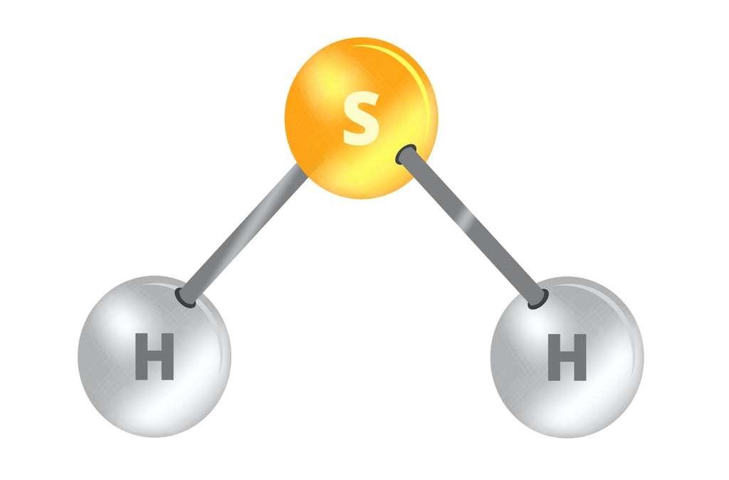 Le sulfure d'hydrogène est un gaz toxique de formule H2S. © petrroudny, Adobe Stock