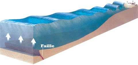 Les tsunamis sont souvent engendrés par des séismes sous-marins. © DR
