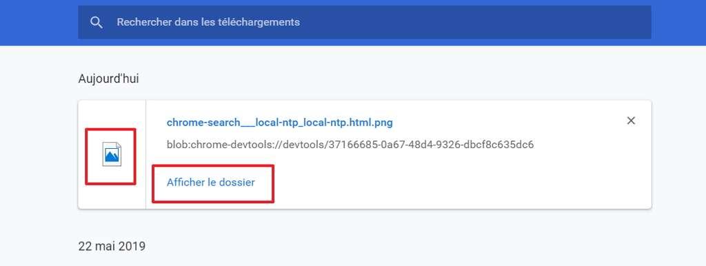 Vous pouvez soit ouvrir le fichier image, soit aller dans le dossier qui le contient. © Google