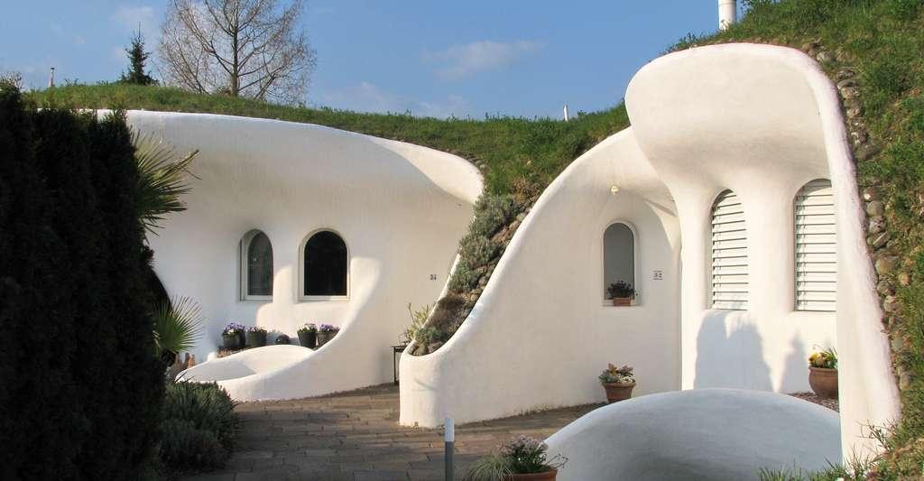 Une maison enterrée, en Suisse