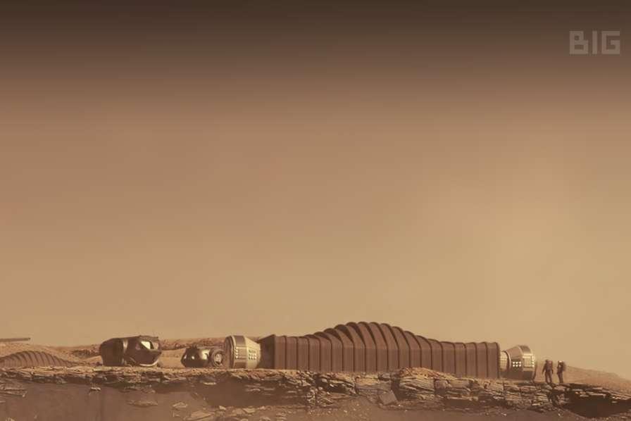 Représentation d'un habitat martien conceptualisé par Icon, compagnie sollicitée par la Nasa. © Icon