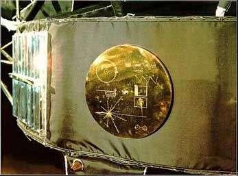 Le disque de Voyager 2. © Nasa, JPL