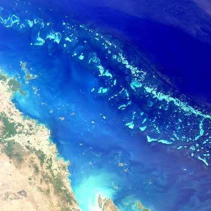 Grande Barrière Australie.