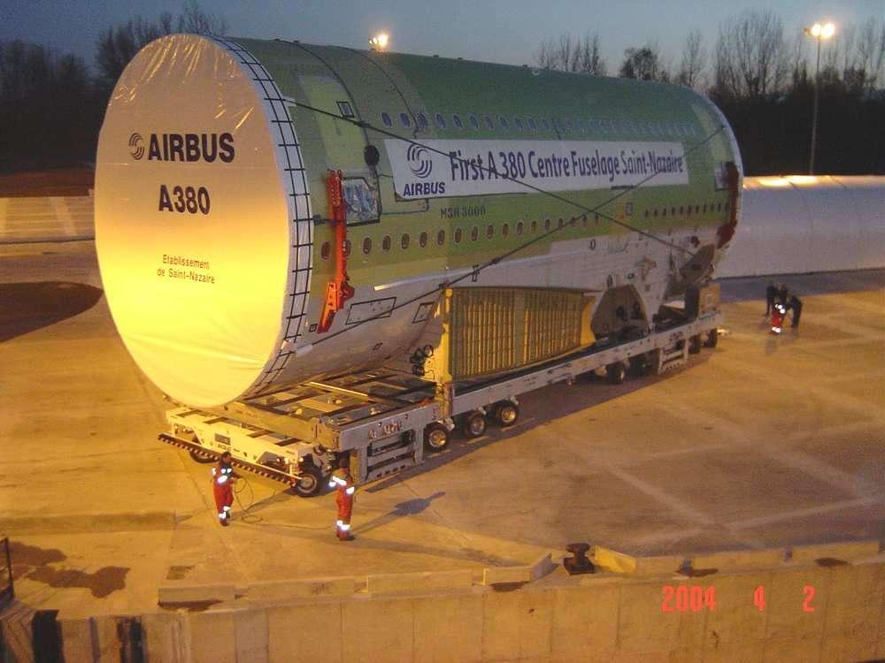 Partie du fuselage de l'A380
