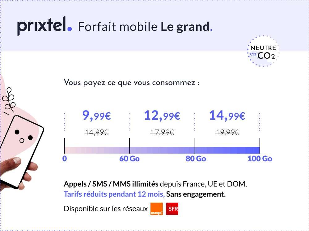 Le forfait Le grand à moins de 10 euros © Prixtel