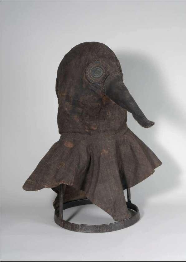 Masque présenté au musée d'Ingolstadt, dont l'origine et l'emploi demeurent incertains. © DMMI