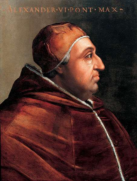 Le pape Alexandre VI (Rodrigo Borgia), père de César et Lucrèce Borgia. © Wikimedia Commons, DP