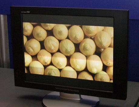 Prototype d'écran dévoilé par Sony. Crédit Sony Corporation.