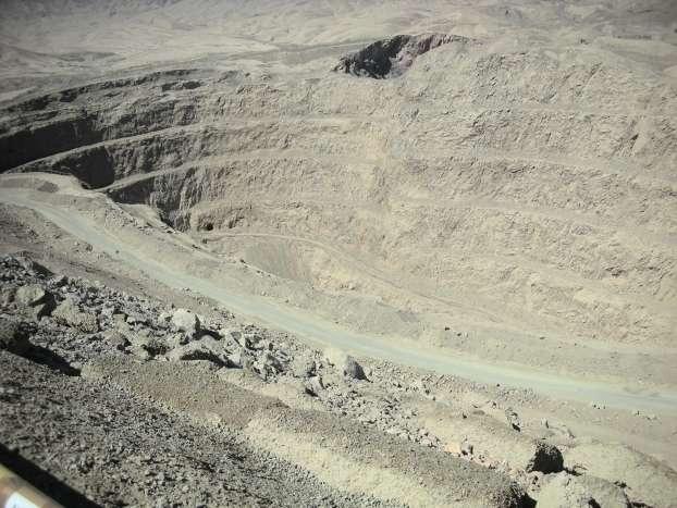 La mine de cuivre au nord d'Antofagasta, au Chili. © J.-L. Vigneresse