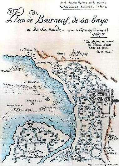 Carte de la région de Bourneuf - © Musée du Pays de Retz