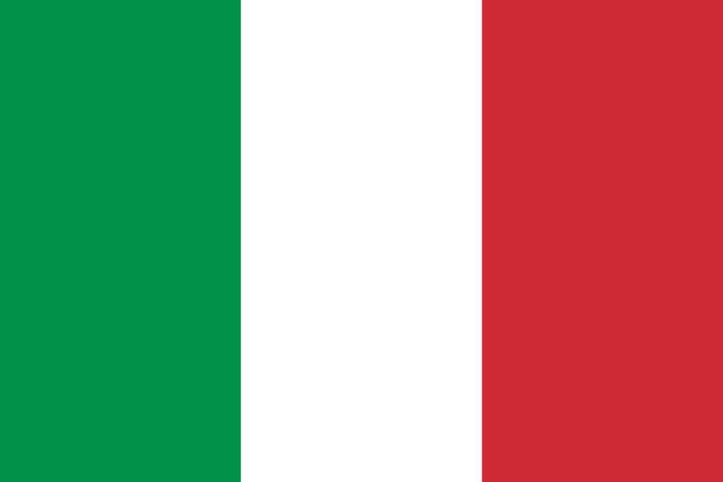 Le drapeau italien. Il reprend les couleurs des trois vertus théologales que sont l'espoir (vert), la foi (blanc) et la charité (rouge). © DP