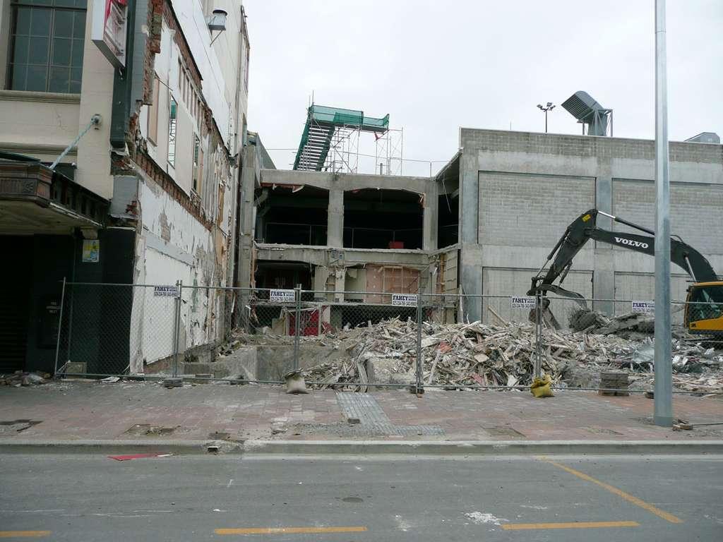 L'épicentre du tremblement de terre de Christchurch de février 2011 était situé en bordure de la ville de Lyttelton. © Marlène Beyerle