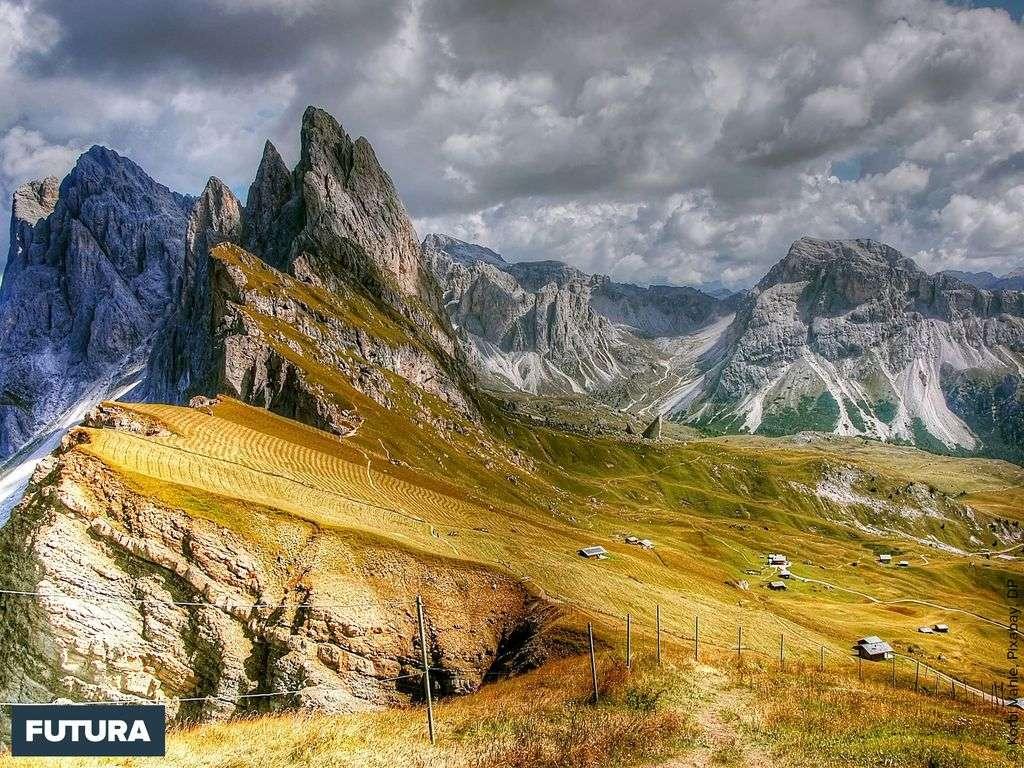 Paysage des Dolomites, Italie
