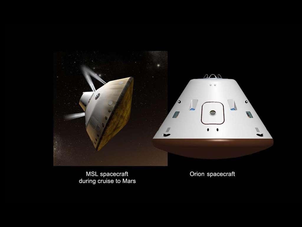 MSL et Orion, deux capsules pour l'exploration de Mars