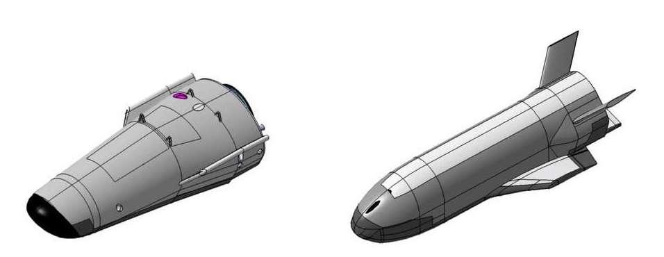 Bien que le Space Rider reprenne la forme du IXV, l'ESA avait envisagé des designs différents comme ces deux-ci. © ESA