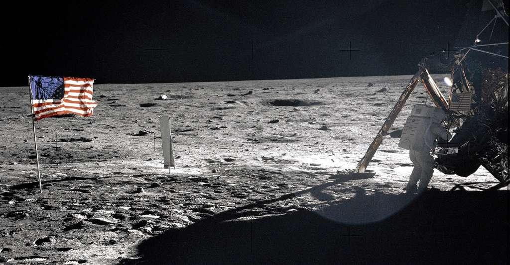 Les premiers pas sur la Lune. © Nasa, DP
