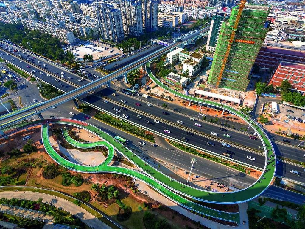 L'autoroute à vélos de Xiamen (Chine). © Dissing+Weitling, BYCS