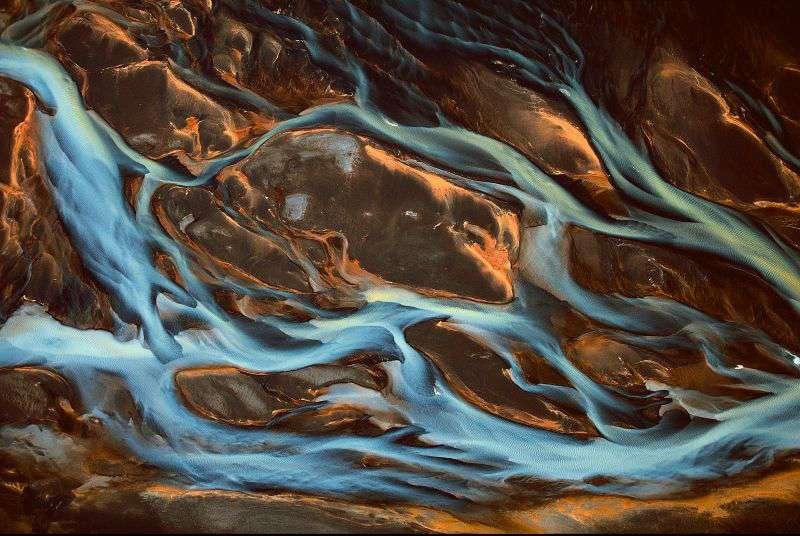 Islande - Détail de la rivière Pjorsa