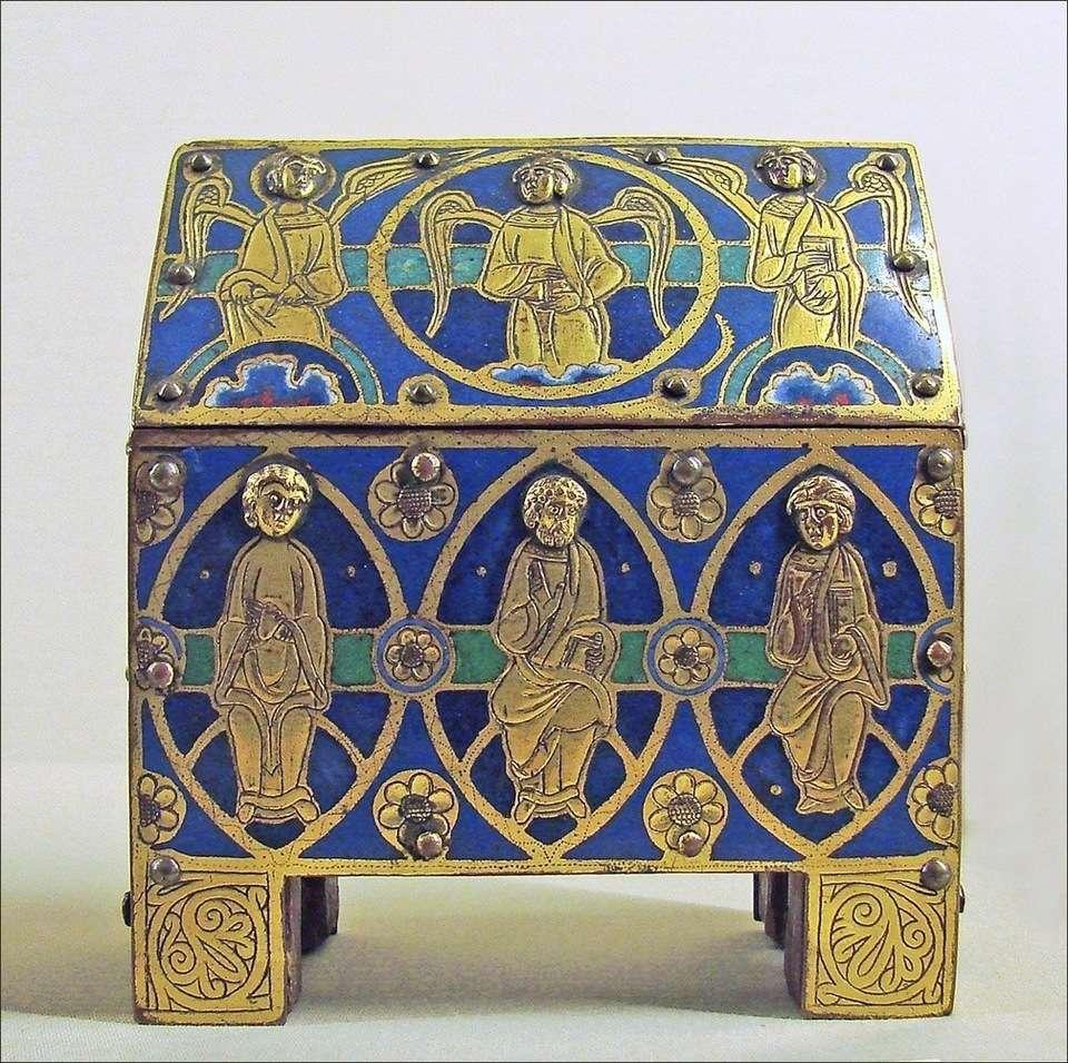 Petit coffre typique réalisé après le début du Moyen Âge. © Jean-Pierre Dalbera, Fotopedia, CC by 2.0