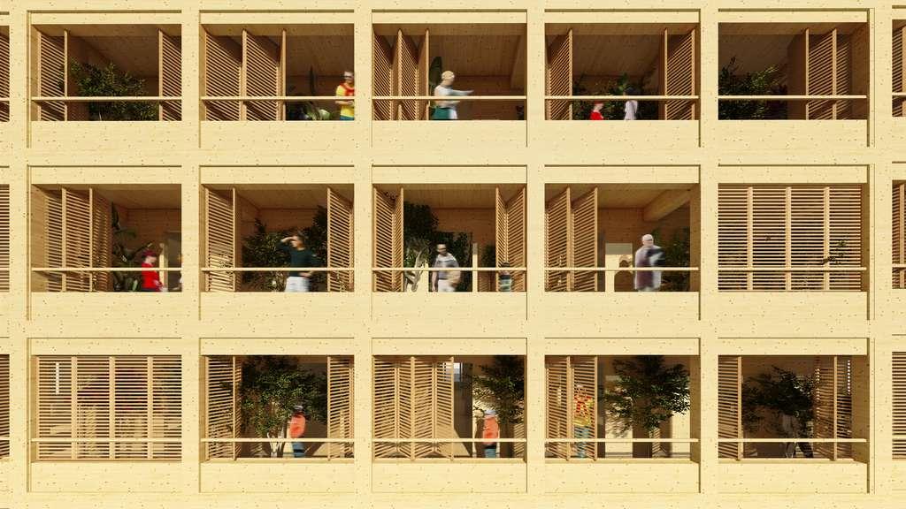 Les immeubles d'habitations se veulent multigénérationnels. © Guallart architects