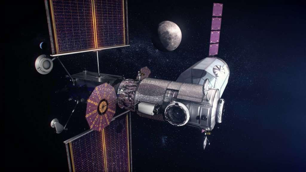 Un des concepts à l'étude de la future Station lunaire internationale. © Nasa