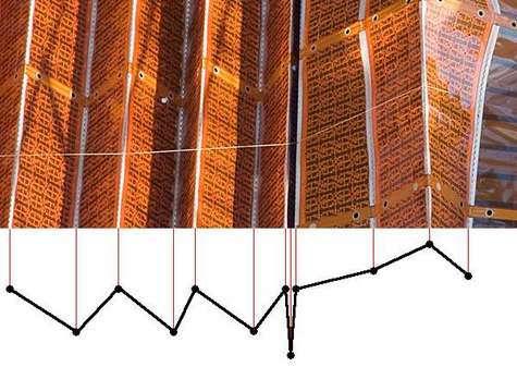Position de la portion de panneau solaire et sa position schématisée après la tentative de retrait automatique: la poursuite du mouvement est impossible. Au cours d'une sortie supplémentaire, les astronautes devront sectionner ce câble et procéder manuellement au repli, élément par élément. Crédit NASA / Futura Sciences.