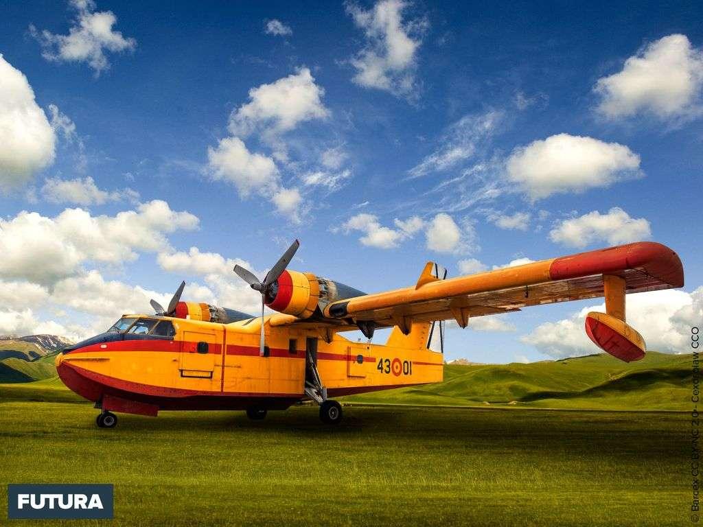 Canadair CL-215 avion amphibie conçu pour la lutte contre les feux de forêts.