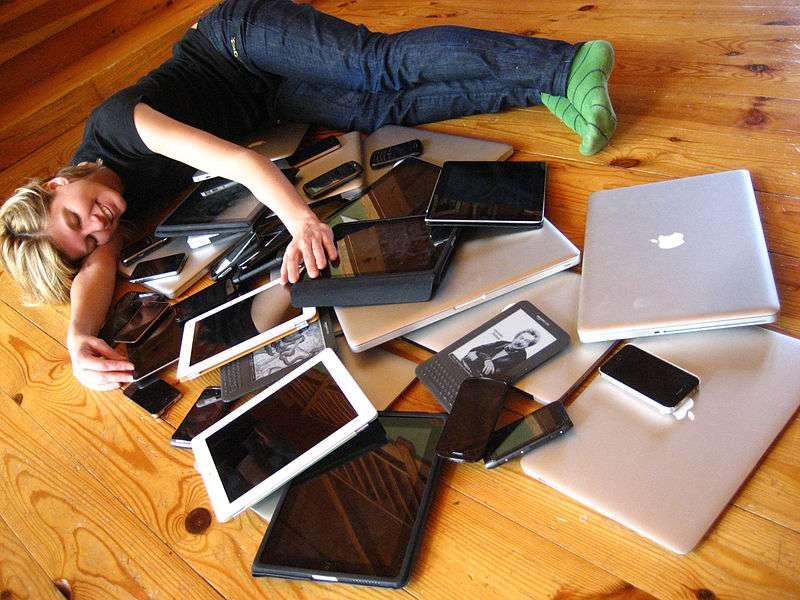 Smartphones, tablettes, ordinateurs professionnels favorisent le travail à distance. © Jeremy Keith, flickr, cc by sa 2.0