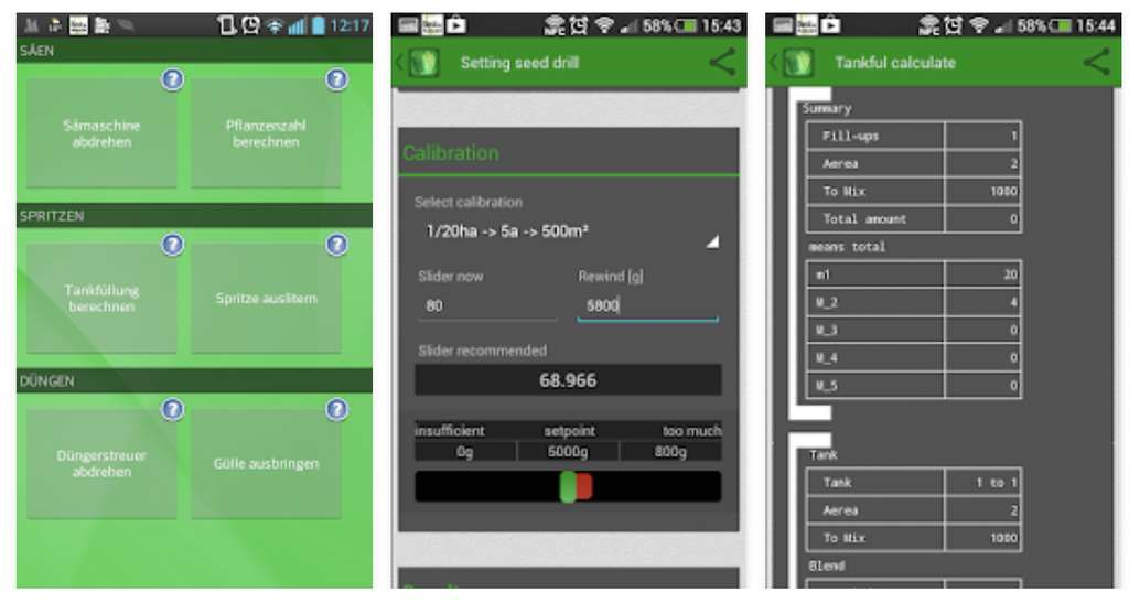 L'application La calculatrice des agriculteurs. © La calculatrice des agriculteurs