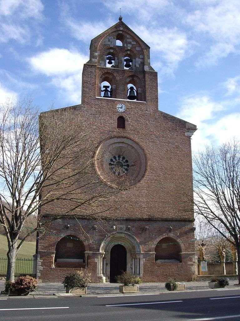 L'église Saint-Christophe, à Montsaunès, est la seule église templière de France dont l'architecture soit restée intacte. © Florent Pécassou, Wikimedia Commons, GNU 1.2