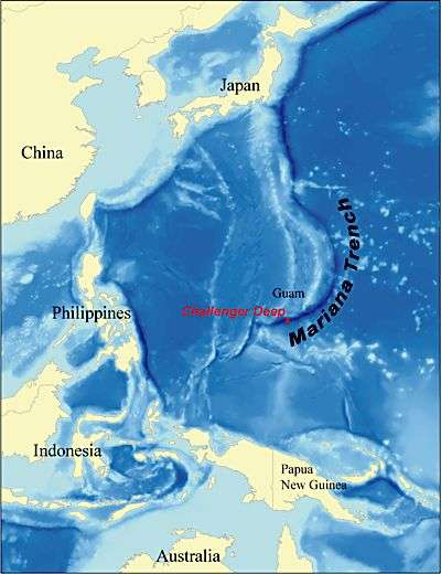 Challenger Deep, dans la fosse des Mariannes. Crédit NOAA