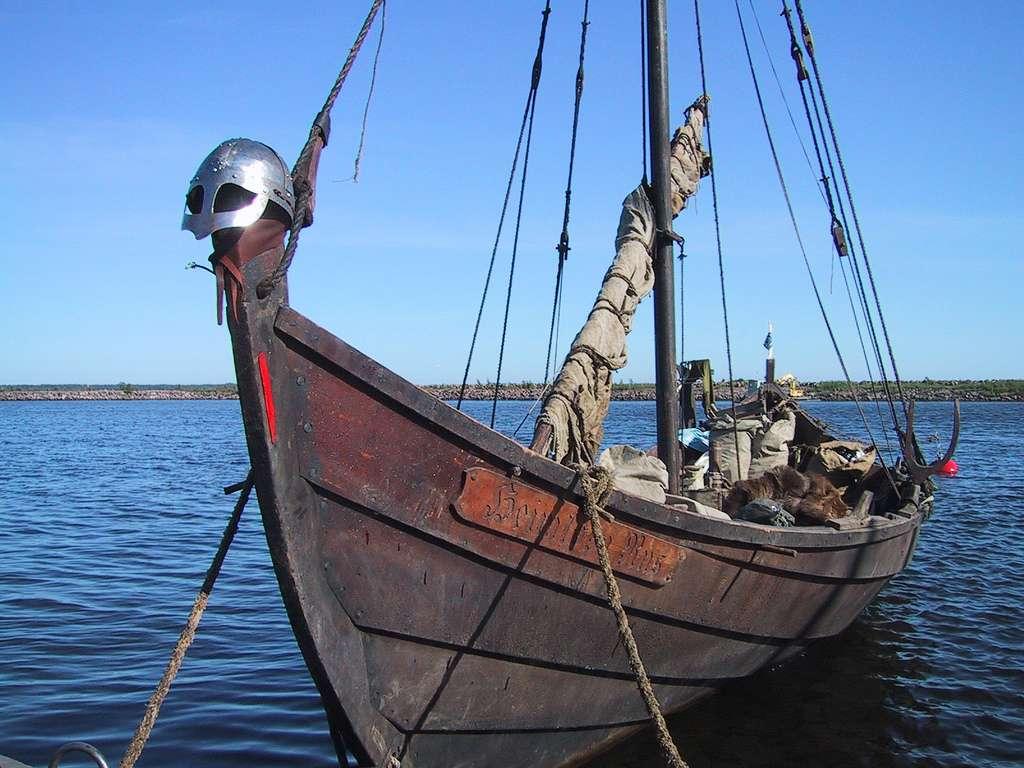 Les Vikings traversaient les océans à l'aide de navires étroits, que l'on appelle communément drakkars. Ils pouvaient ainsi remonter les fleuves, perpétrer des pillages loin dans les terres, et ramener de leurs excursions des esclaves. © Henribergius, Flickr, cc by sa 2.0