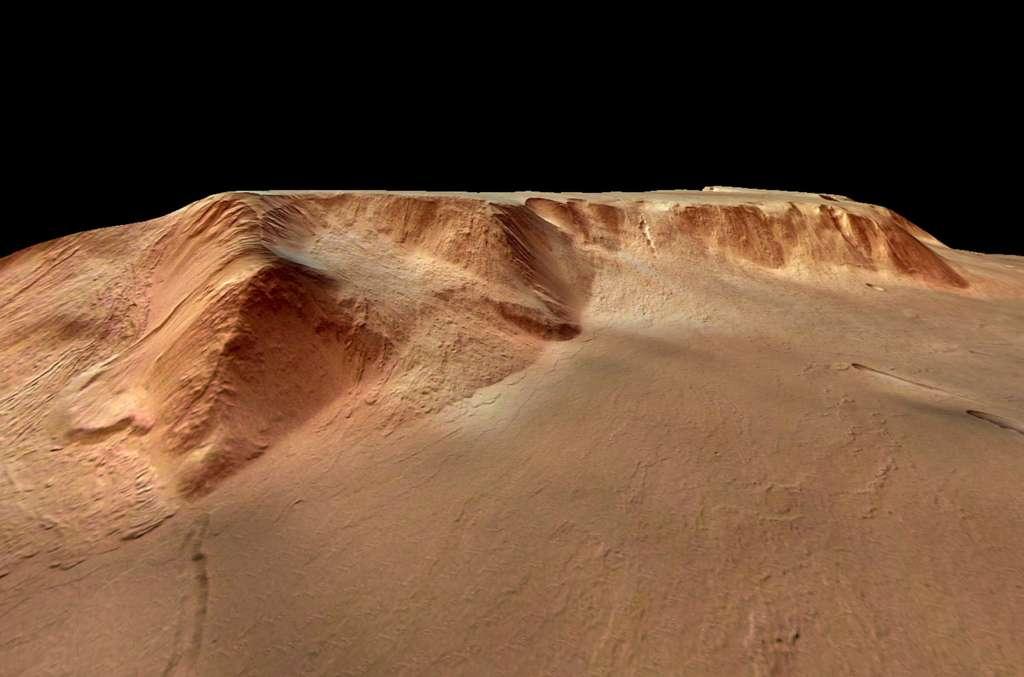 Dans la caldeira d'Olympus Mons...