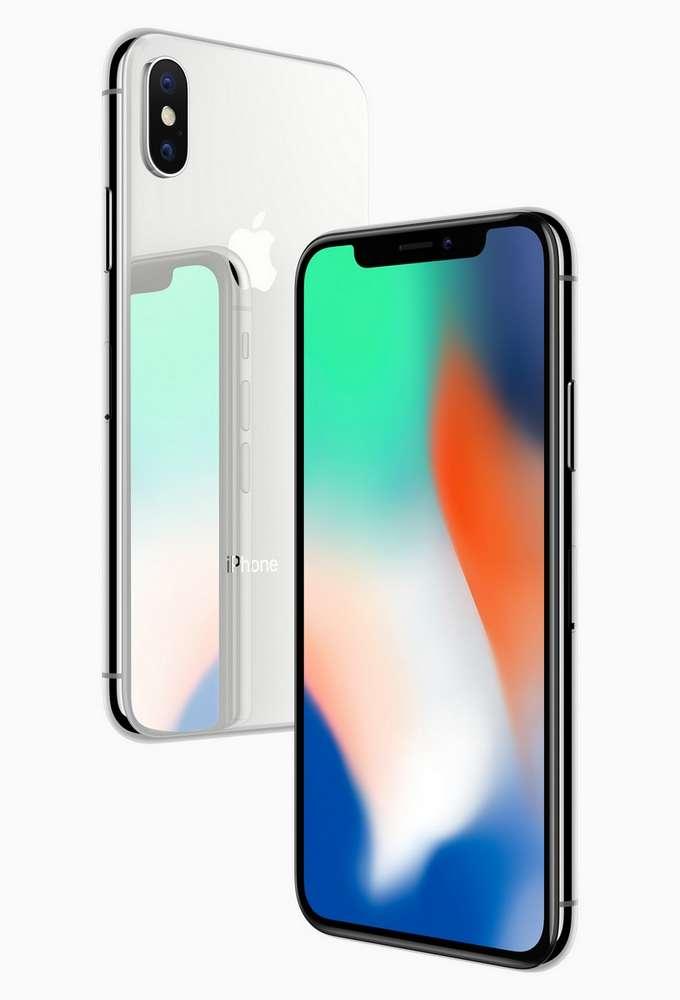 L'écran bord à bord de l'iPhone X crée un effet d'immersion totale, renforcé par l'absence de bouton d'accueil. © Apple