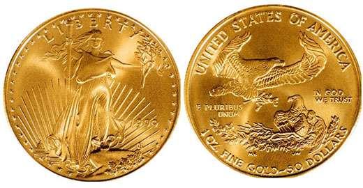 Gold Eagle USA recto verso.