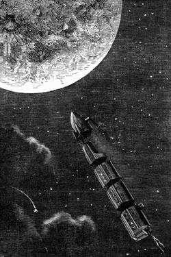 """Dans """"De la Terre à la Lune"""", Jules Verne le visionnaire imagine ce que seront les vols spatiaux un siècle plus tard"""