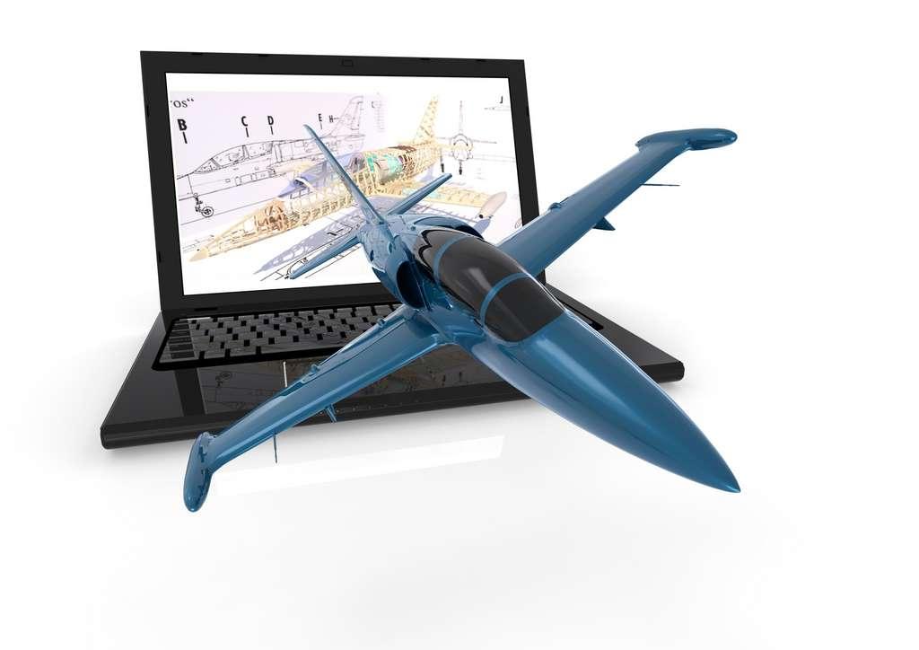 Le dessinateur-projeteur aéronautique réalise des plans en deux ou trois dimensions de pièces aéronautiques à l'aide de logiciels spécialisés. © MIke, Fotolia.