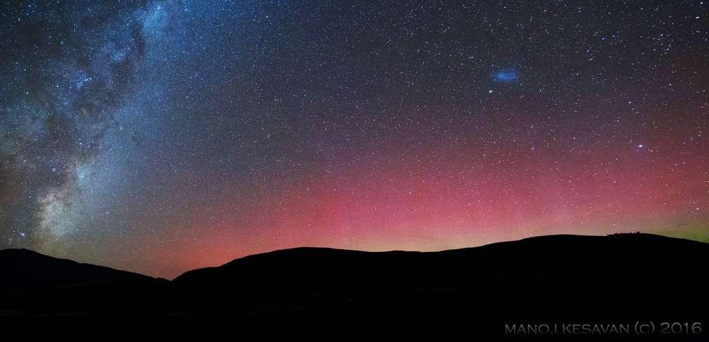 Aurore australe photographiée le 8 mai en Nouvelle-Zélande. © Manoj Kesavan