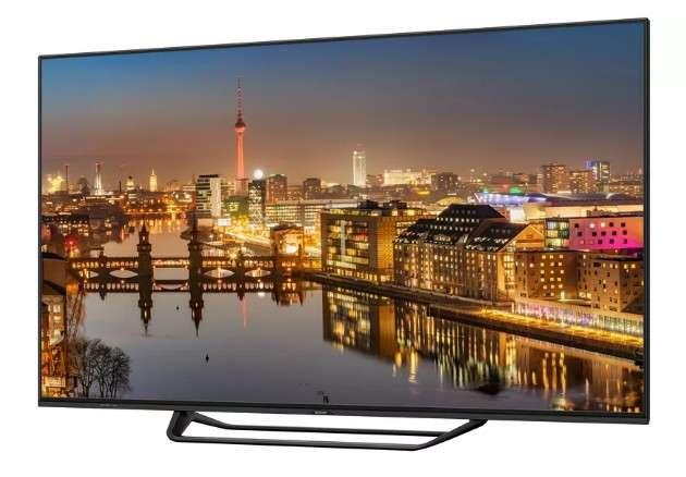Le téléviseur Aquos LCD 8K, de Sharp, sera commercialisé en Europe à partir de mars 2018. © Sharp