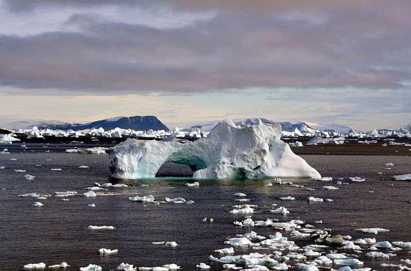 Les icebergs du cap York, au Groenland