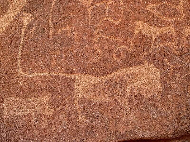 Les peintures rupestres de Twyfelfontein, en Namibie