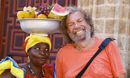 Vendeuse de fruits sur la place de la Aduana. © Antoine, tous droits réservés