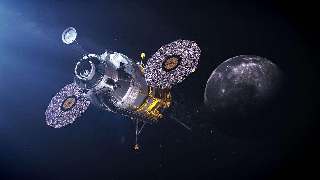 Concept d'atterrisseur lunaire envisagé dans le cadre du programme Artemis de la Nasa. Ce concept n'est pas celui de Blue Origin. © Nasa