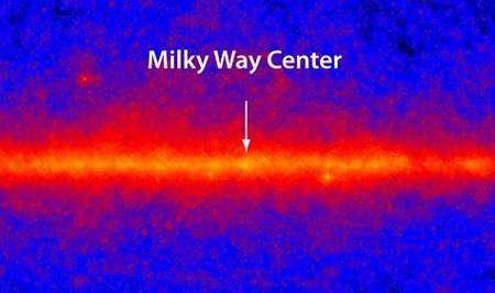 Regard de Fermi sur le centre de notre galaxie, la Voie Lactée. Crédit Nasa