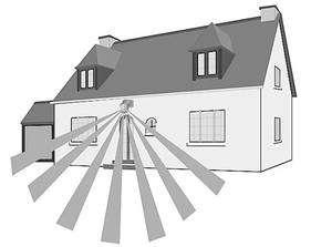 Le système anti-intrusion fait son travail à l'extérieur, le détecteur de gaz et de fumée, à l'intérieur. © Flash