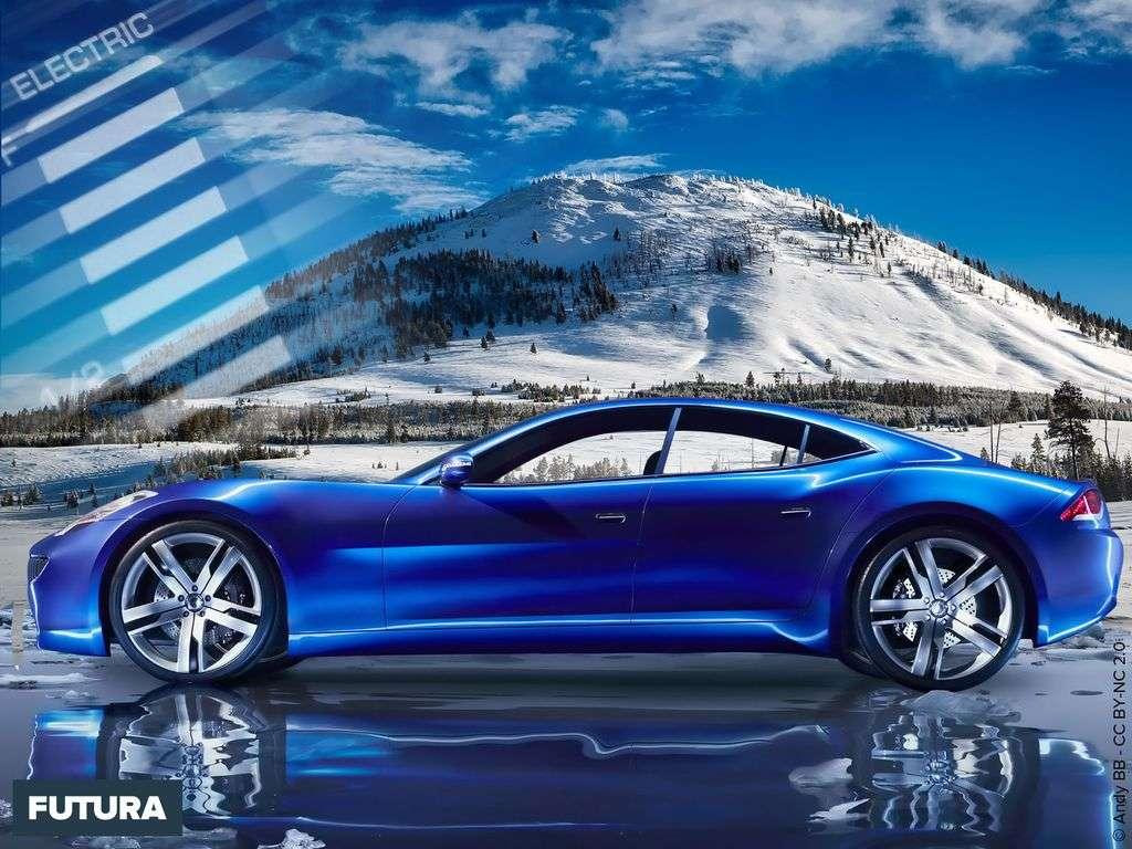 Salon de l'auto : la Fisker Karma, voiture électrique