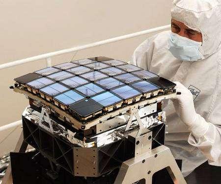 Les 42 détecteurs CCD de Kepler (montés par paires). Crédit Nasa