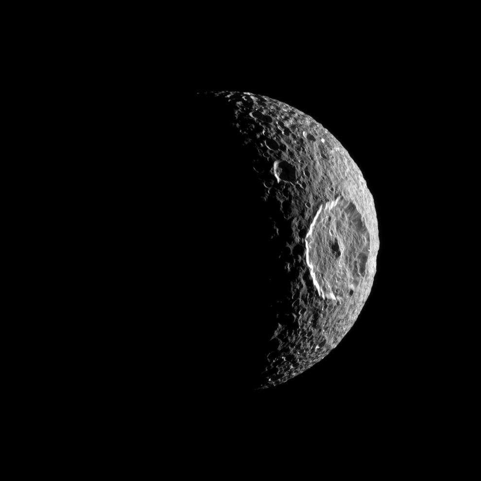 Mimas vue par Cassini
